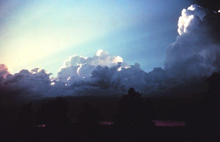 Sky over dark earth, William James quote