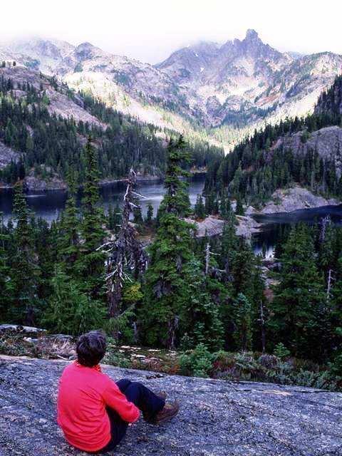 Faithless man viewing mountain