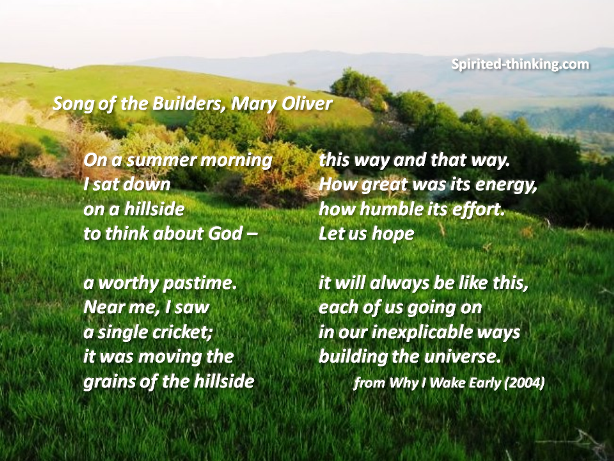 """Song of the Builders,"" by Mary Oliver"