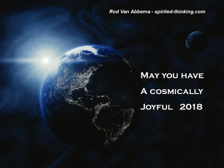 May you have A cosmically joyyful 2018""